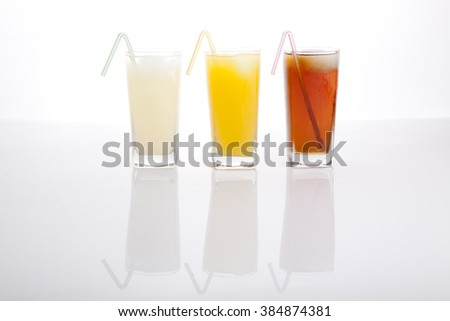 drinks,ice tea,orange juice,grapefruit