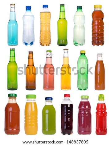 Drinks in bottles - stock photo