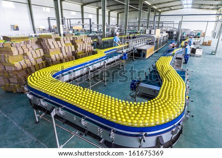 drinks production plant in China - stock photo
