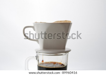 Drip coffee cup - stock photo
