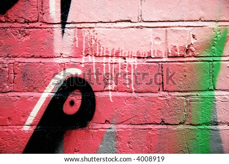 Dripping abstract graffiti - stock photo