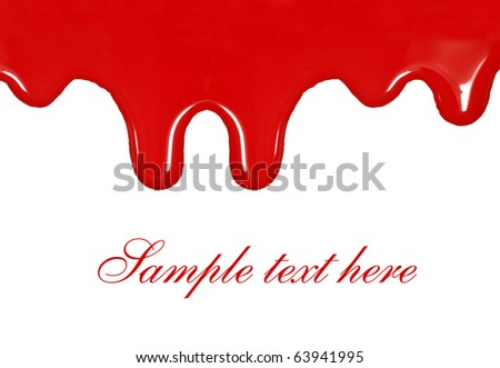 Dripping blood - stock photo