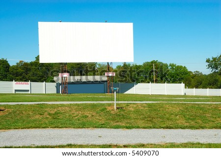 Drive In Theater on a summer day. - stock photo