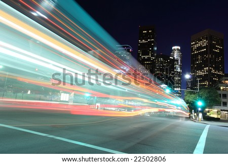 Drive into the city - stock photo