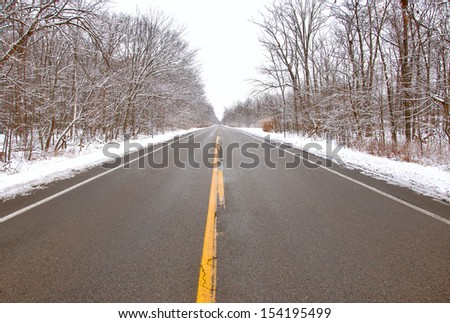 Drive safely in winter snowy streets