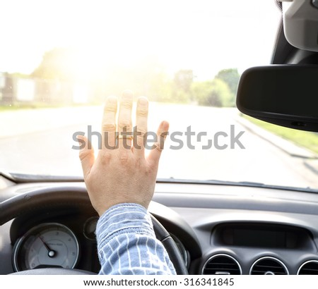 driver blinded by a bright light