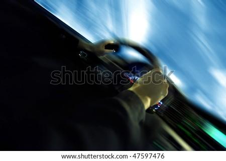 driver inside car - stock photo