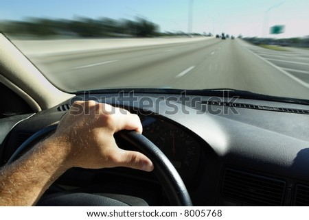 Driver Speeding - stock photo