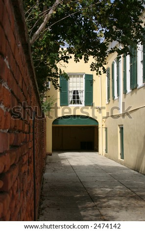 Driveway and Brick Wall in French Quarter