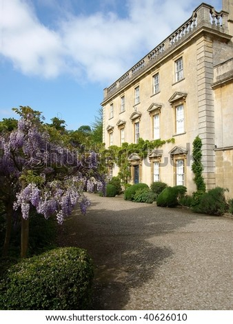 Driveway to a Stately Home - stock photo
