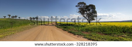 Driving along the roads less travelled in Canowindra - stock photo