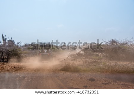Driving buggies off road - stock photo