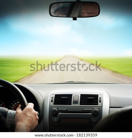 driving car  - stock photo