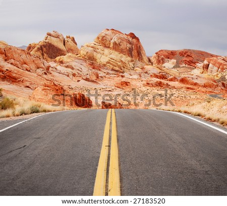 Driving in the Valley Of Fire park