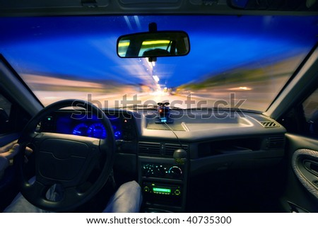 DRIVING IN THRU NIGHT