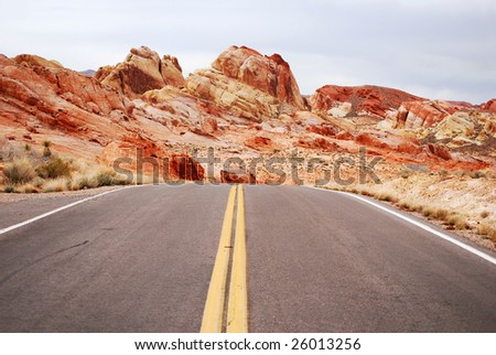 Driving in Valley Of Fire