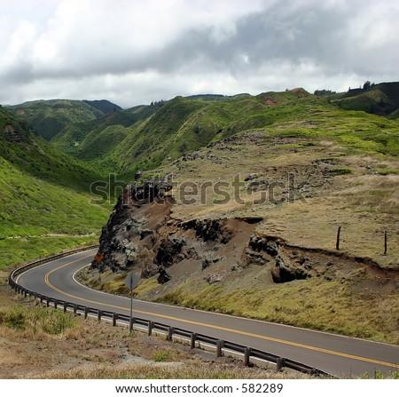 Driving Maui Island's Mountain Roads - stock photo