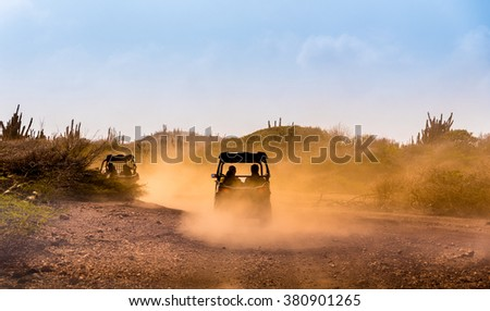 Driving off road  - stock photo