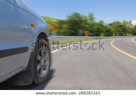 Driving on a curve