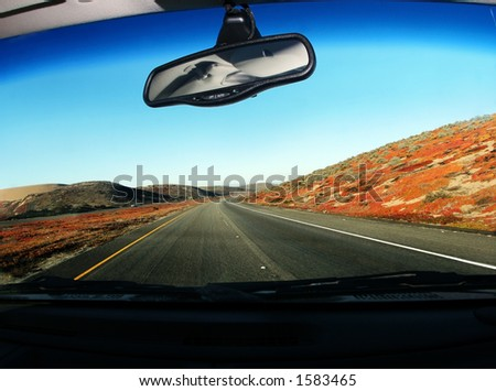 Driving on the road - stock photo