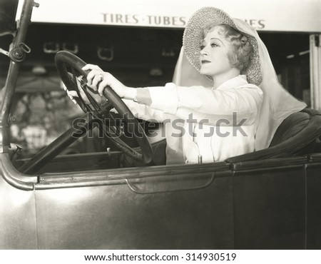 Driving with confidence - stock photo