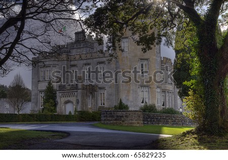 dromoland castle hotel, county clare, ireland - stock photo