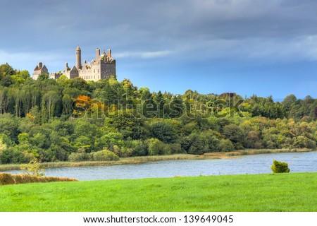 Dromore Castle in Co. Limerick, Ireland - stock photo