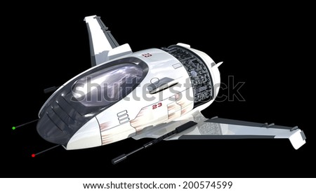 Drone design of alien spacecraft for science fiction backgrounds, interstellar space travel or futuristic military battleship war games. - stock photo