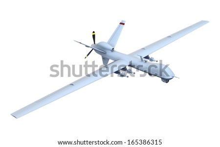 Drone - unmanned aerial vehicle - stock photo