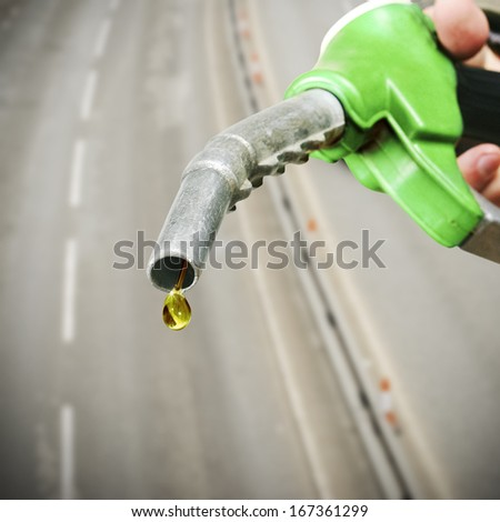 Drop of fuel - stock photo