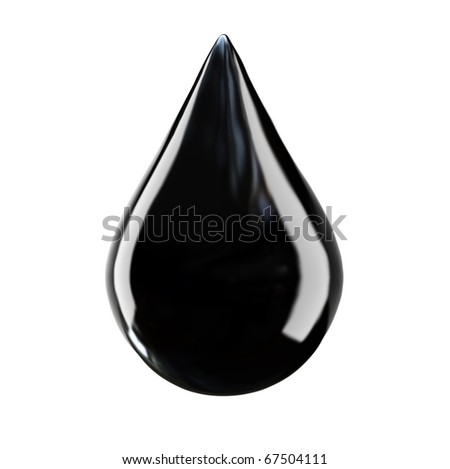 drop of oil on a white background