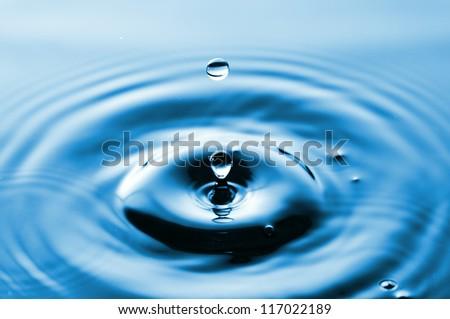 Drop of water - stock photo