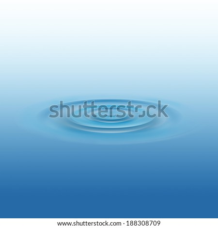 Drop of water, abstract background