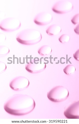 Drop of water, background, metal, pink