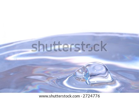 Drop of water - Macro 1:1 - stock photo