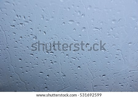 Drop of water on mirror