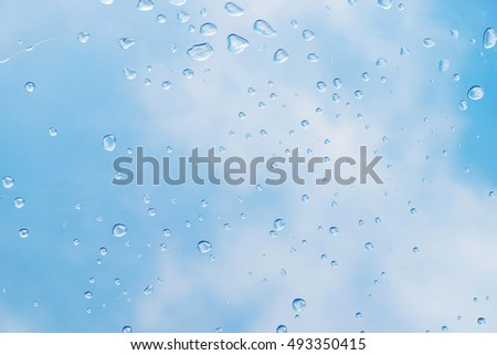 drop of water on the roof with sky background