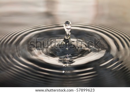 drop of water,possible use to background - stock photo