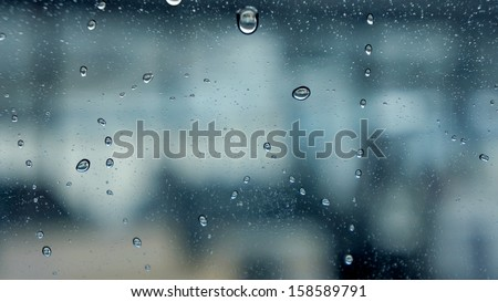 Drop of water with clear space for background - stock photo