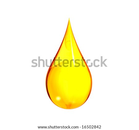 Drop of yellow liquid - stock photo