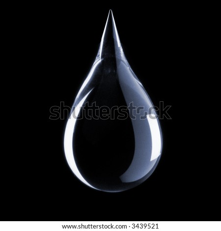 drop on black Backgrounds - stock photo