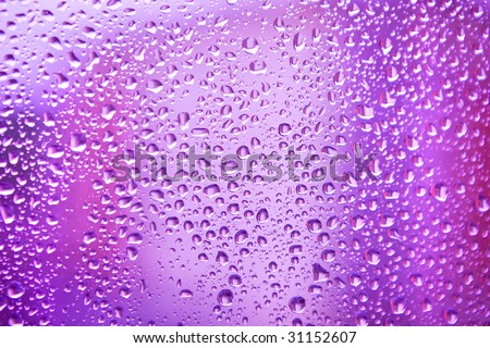 drop on color glass texture - stock photo