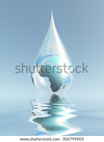 Droplet Africa - stock photo