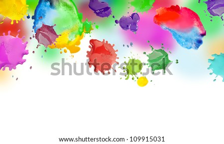 Drops of ink and the background for the label - stock photo
