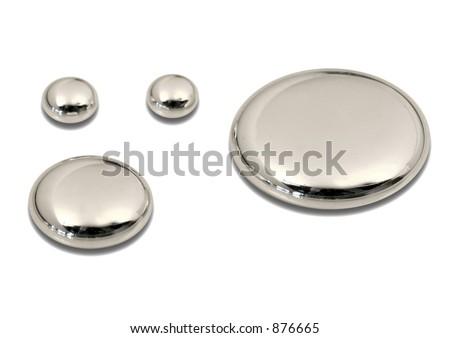 drops of mercury (hg) - stock photo