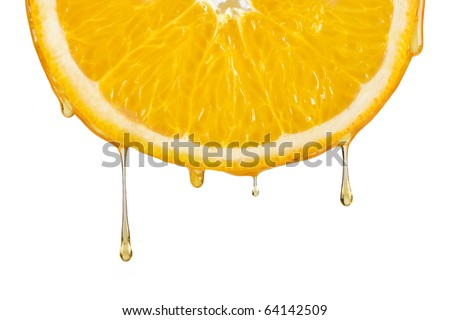 drops of orange juice