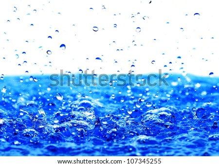 Drops of water. - stock photo