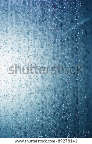 drops of water in the shower - stock photo