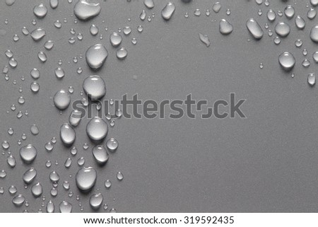 Drops of water on a color background. Shallow depth of field. Selective focus. - stock photo