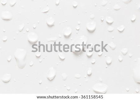 drops of water on a white background - stock photo